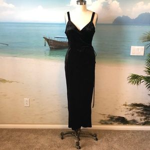 Beautiful Velvet Wrap Dress